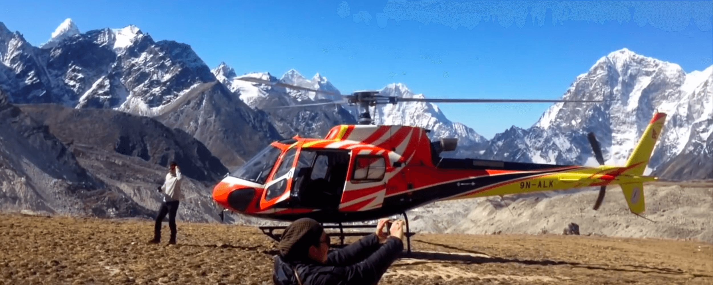 Everest Base camp Helicopter landing tour