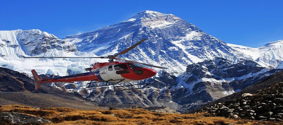 The Everest base camp helicopter our