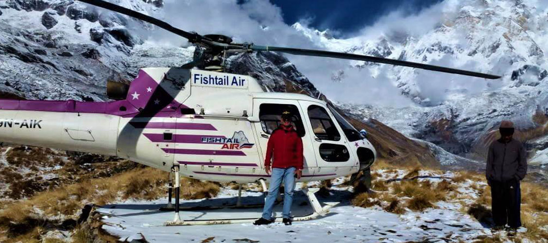 annapurna base camp helicopter tour cost