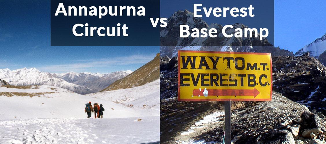 annapurna circuit vs Everest Base Camp Trek