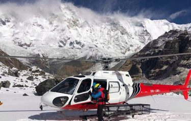 Annapurna Base camp trek return back by helicopter