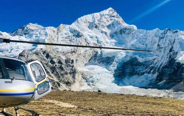 gorak shep to lukla by helicopter