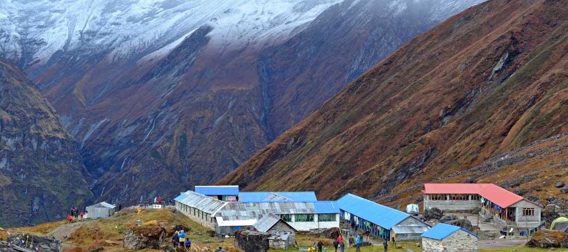 Dovan/Himalaya to Machhapurchhe Base Camp or Annapurna Base Camp (Sanctuary)