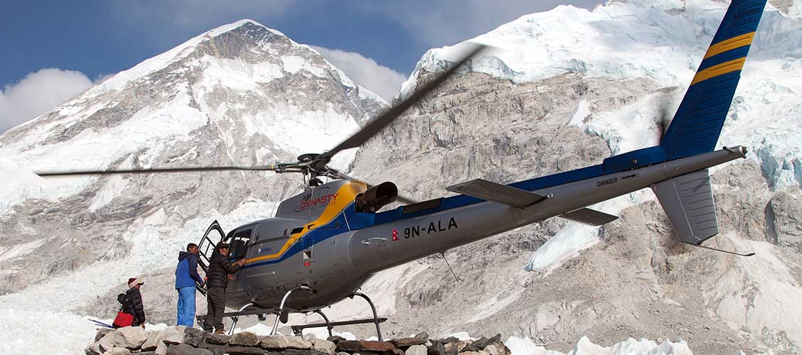 Helicopter to Everest View HOtel